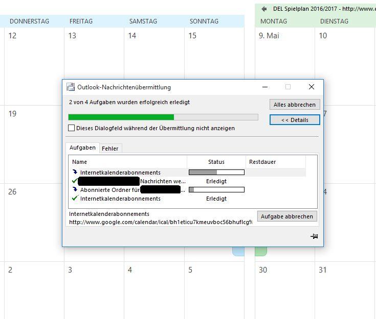 Outlook Kalender Abo Button