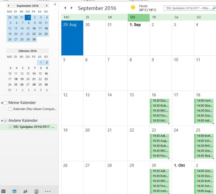 Outlook Kalender Abo URL