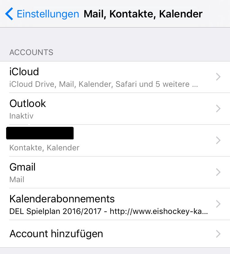 Kalender entfernen iOS